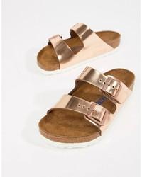 Birkenstock Arizona Gold Flat Sandals