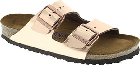 d04c7b931e6d Birkenstock Arizona Soft Footbed Metallic Copper Leather Sandals ...