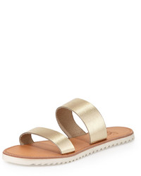 Joie Avalon Metallic Flat Sandal Whitegold