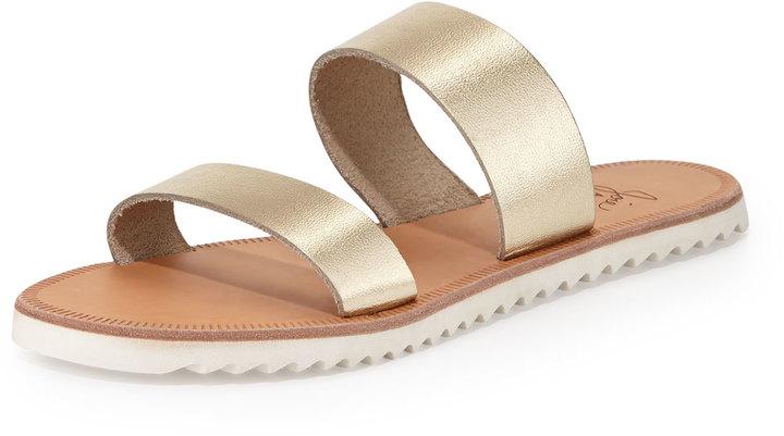 Joie Avalon Metallic Flat Sandal