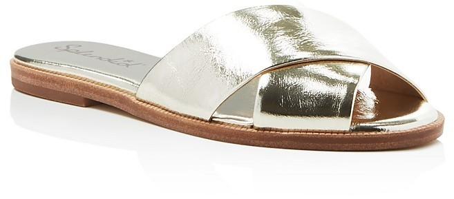 25f4f749df2 ... Splendid Baron Metallic Criss Cross Slide Sandals ...