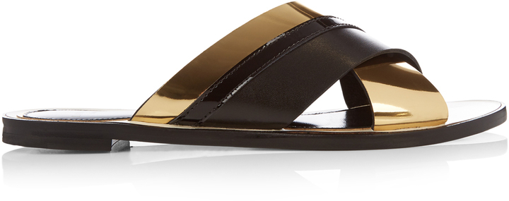 sale with mastercard Lanvin Crossover Leather Sandals buy cheap footlocker finishline discount pick a best clearance order w1LHOgNRr
