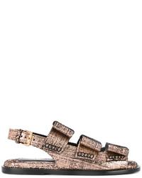 Marni Fusbett Metallic Sandals