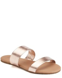 Lc Lauren Conrad Glossy Slide Sandals
