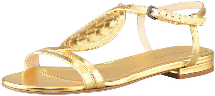 Metallic leather 'Flash' sandals sale 5DOnlPQ1