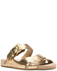 672d8032ea8 MICHAEL Michael Kors Michl Michl Kors Sawyer Metallic Strappy Slide Sandals