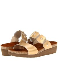 Naot Footwear Ashley Sandals Gold Sheen Leather