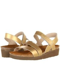 Naot Footwear Kayla Sandals Gold Sheen Leather