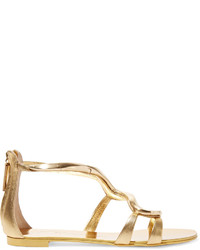 Giuseppe Zanotti Sold Out Metallic Leather Sandals