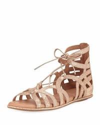 Break my heart flat gladiator sandal gold medium 3729371