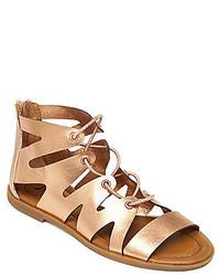 Lucky Brand Centiee Metallic Ghillie Gladiator Sandals