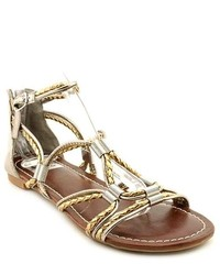 DV by Dolce Vita Diandra Gold Gladiator Sandals Shoes Newdisplay