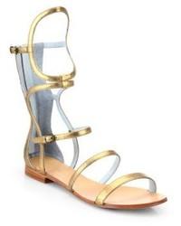 Dannijo Isla Metallic Leather Gladiator Sandals