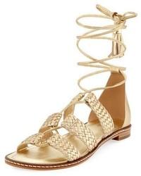 MICHAEL Michael Kors Michl Michl Kors Monterey Woven Metallic Gladiator Sandal