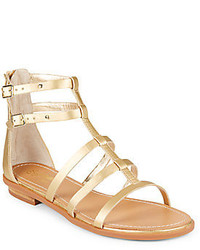 Seychelles aim high metallic faux leather gladiator sandals medium 236602