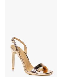 Boohoo Anya Sling Back Two Part Sandal