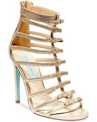 Betsey Johnson Blue By Tie High Heel Evening Sandals