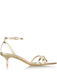 Burberry Shoes Accessories Metallic Leather Sandals