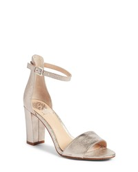 5535708458 Women's Gold Leather Heeled Sandals by Vince Camuto | Women's ...