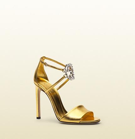 0088c208c0bbf ... Gucci Gg Sparkling Metallic Leather Sandal ...
