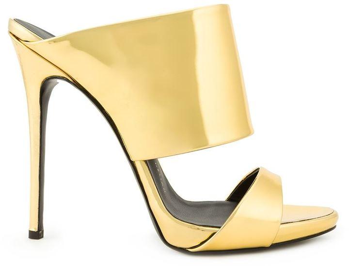 c2b47ce2c ... Sandals Giuseppe Zanotti Design Metallic Mules