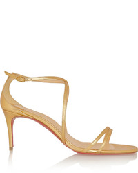 Christian Louboutin Gwinee 70 Metallic Leather Sandals