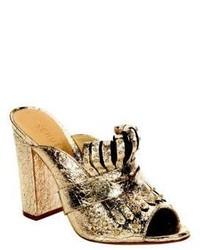 Schutz Janny Leather Slip On Sandals