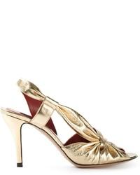 Marc Jacobs Metallic Sandals
