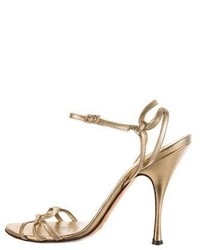 Dolce & Gabbana Metallic Leather Sandals