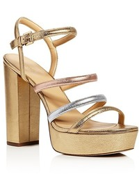 MICHAEL Michael Kors Michl Michl Kors Nantucket Metallic Platform High Heel Sandals