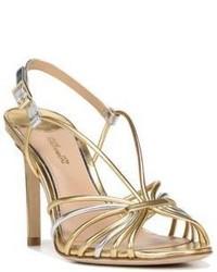 Diane von Furstenberg Milena Leather High Heel Sandals