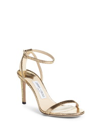 Jimmy Choo Minny Metallic Sandal