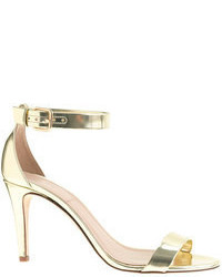 J.Crew Mirror Metallic High Heel Sandals