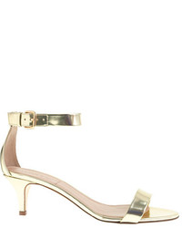c25b814b3a19 Women s Gold Leather Heeled Sandals by J.Crew