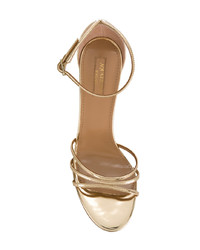 Aquazzura Mirrored Strappy Sandals