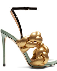 Marco De Vincenzo Plaited Leather Sandals
