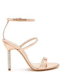 Sophia Webster Rosalind Crystal Embellished Heel Leather Sandals