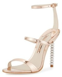 Sophia Webster Rosalind Crystal Heel Leather Sandal