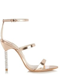 Sophia Webster Rosalind Crystal Heel Leather Sandals