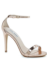 Steve Madden Stecy Metallic Leather Banded Ankle Strap Dress Sandals