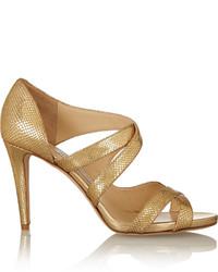 Jimmy Choo Valance Snake Effect Leather Sandals
