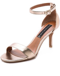 Steven Vienna Metallic Sandals