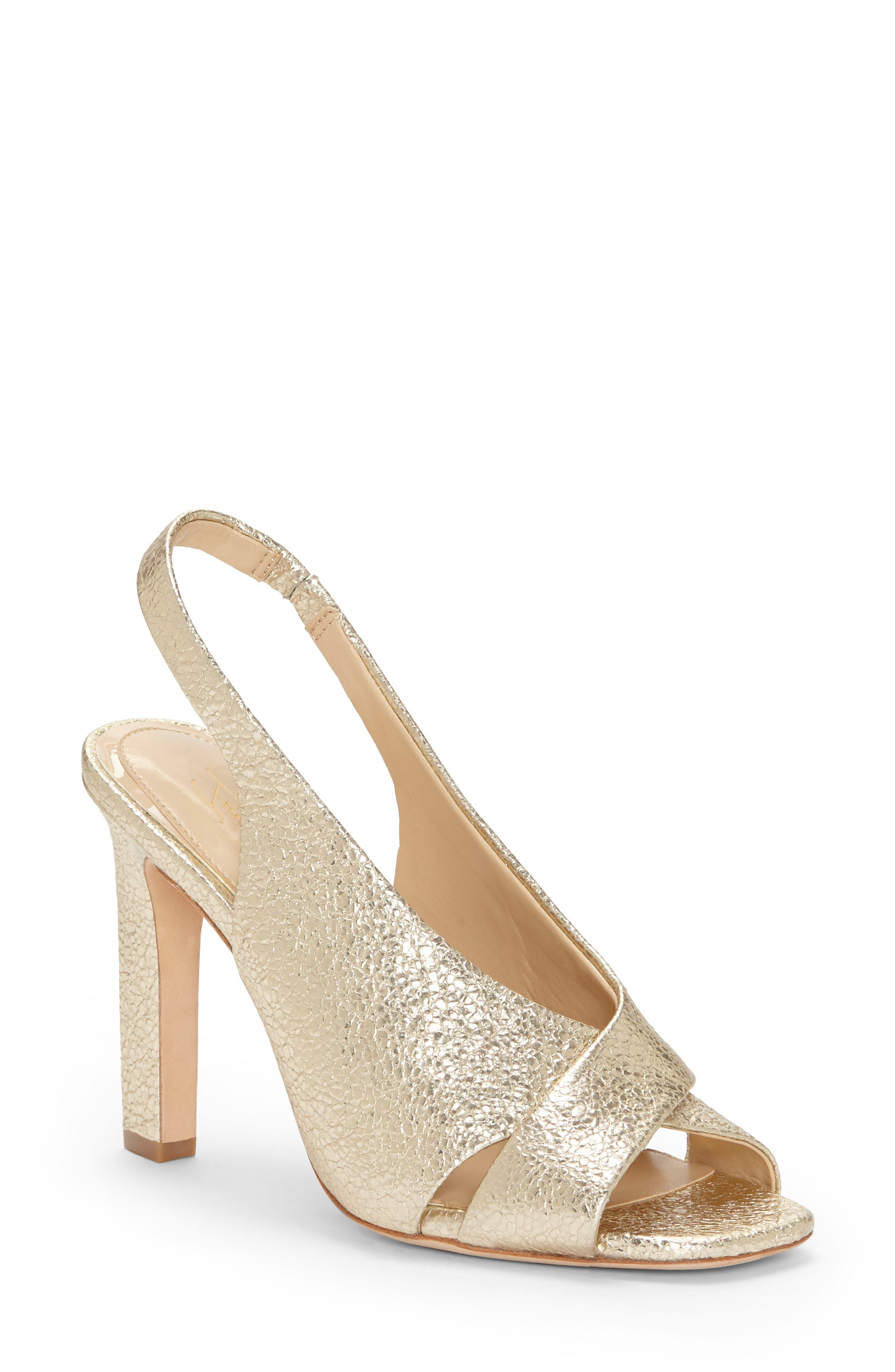 360775d2dbb ... Gold Leather Heeled Sandals Imagine by Vince Camuto Wrennie Slingback  Sandal