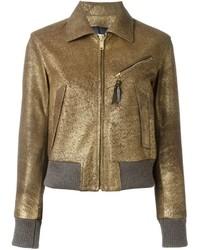 Golden Goose Deluxe Brand Metallic Leather Jacket