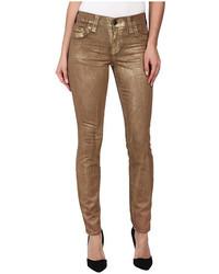 Halle super skinny legging in metallic gold medium 425059