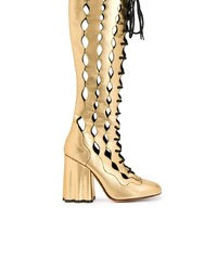 Marni Lace Up Knee Length Boots