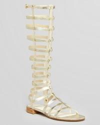 Stuart Weitzman Gladiator Metallic Knee High Sandals