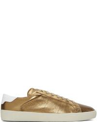 Saint Laurent Bronze Sl 06 Court Classic Sneakers