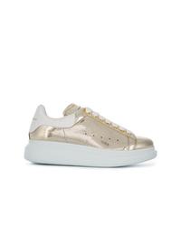 Women s Gold Low Top Sneakers by Alexander McQueen   Women s Fashion 5abf736c95e