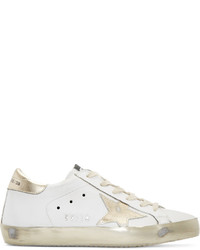 Golden goose white gold superstar sneakers medium 1250131